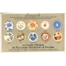 LES ASSIETTES MINIATURE DES PLUS GRANDES MANUFACTURES DE PORCELAINE - Assiettes miniatures