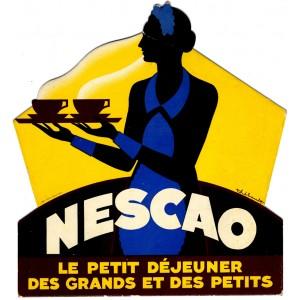 """Affiche """"NESCAO - Petit dejeuner"""""""